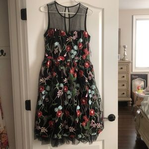 ECI New York Floral Fit and Flare Dress ❤️ Size 8